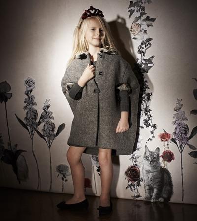 Lanvin wool coat for girls