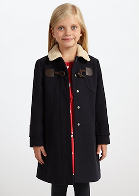 John Lewis Girl Borg Collar Toggle Coat