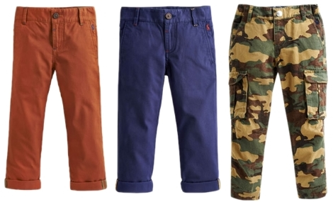 colored printed pants for boys