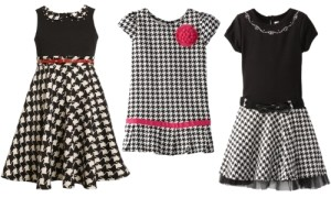 Runway Inspired: How to Wear A Houndstooth Check Dress for Girls