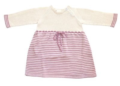Estella Knit Layette Leah Baby Dress