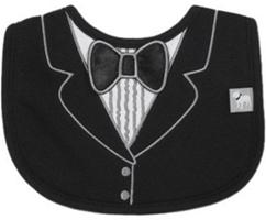 Frenchie Mini Couture Tuxedo Bib