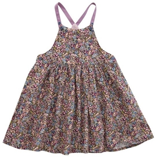 Liberty of london chive print baby pinny dress