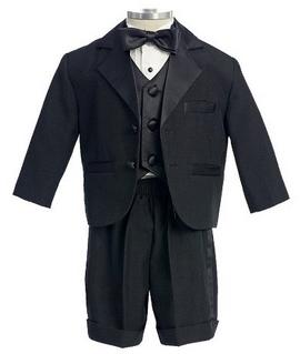 Modern Black Tuxedo for Baby Boy