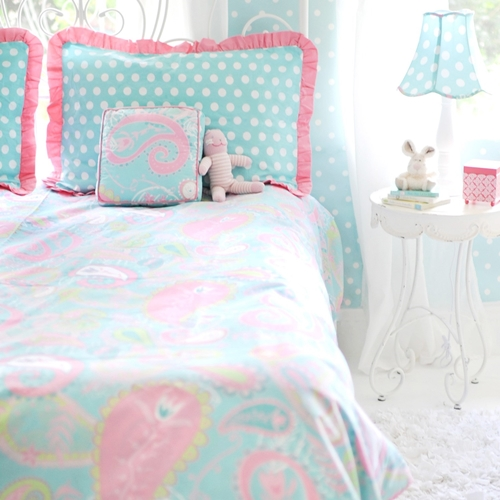 My Baby Sam Pixie Baby Aqua Full Bedding Set