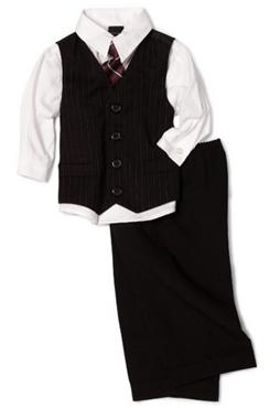 Nautica Baby-Boys Infant Shadow Stripe Vest Set