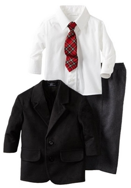 Nautica Dress Up Baby-boys Infant Patterned Tie Jacket Suit Set