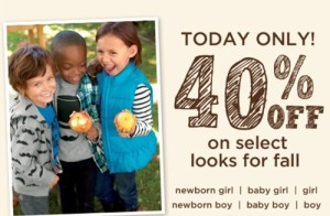 Fashion for Kids Deals: Gymboree 40% Off Fall Looks