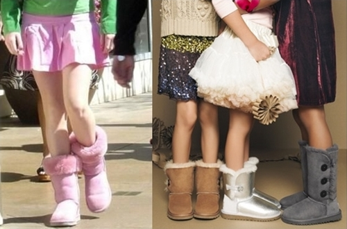 ugg boots with cute skirts for young girls