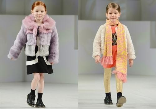 winter fashion fur coat for girls