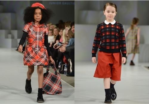 winter fashion plaid trend for girls