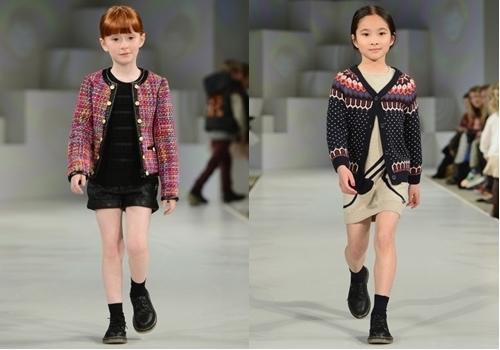 winter fashion tweed jacket for girls