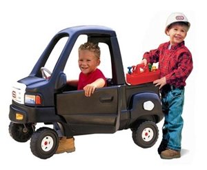 Classic Pickup Truck with Bonus Construction Helmet and Tool Set
