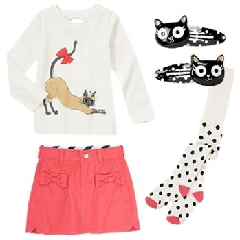 Kitty Tee Twirl Skirt Fashion Girls