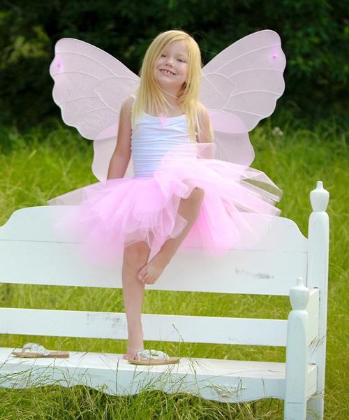 Pink Fairy Princess Wing & Wand Set - Girls