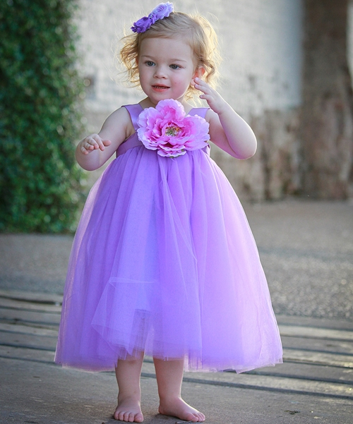Purple Ella Princess Dress - Infant, Toddler & Girls