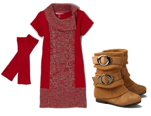 party outfit sweater dress for girls