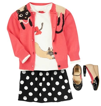 polka dot anf fab kitties fashion girls