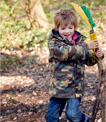 Boys Hooded Camouflage Jacket