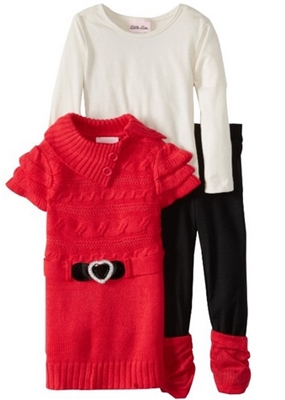 Piece Belted Envelope Collar Cable Knit Sweater Set Girls