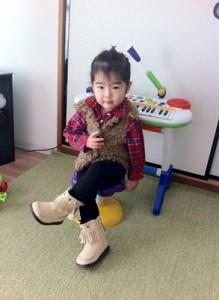 Filipino-Japanese Girl, Yukina, Loves Wearing Fringe Boots and Faux Fur Vest
