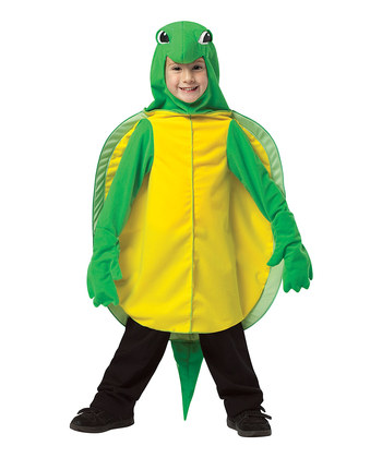 Green & Yellow Turtle Dress-Up Outfit - Kids