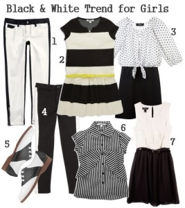 Spring Trend for Girls: Black & White Monochrome