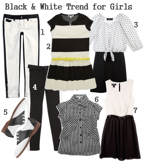 black and white trend for girls