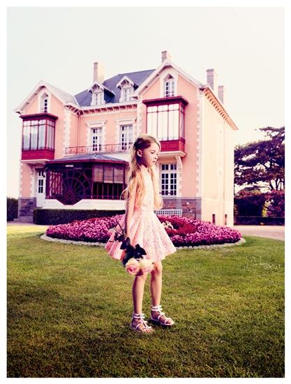 whimsical silk dress girls