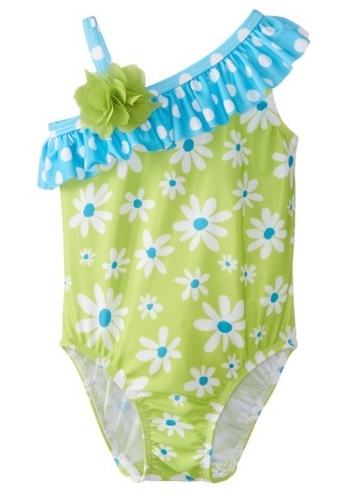 Flap Happy Baby-Girls Infant Upf 50+ Asymmetrical Swimsuit