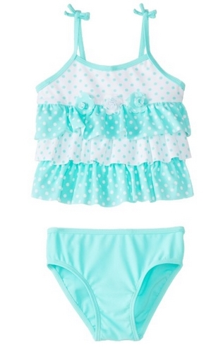Little Me Baby-Girls Infant Mixed Dot 2 Piece Swimsuit