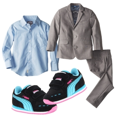 boys dress clothes classic shirt and suit