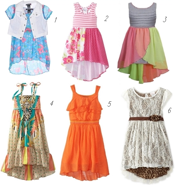 hi-low dresses for girls ages 2-6