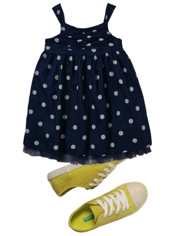styles for girls blue dot dress block