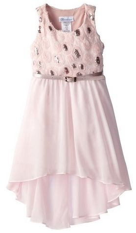 Bonnie Jean Little Girls Scalloped Mesh Bonaz To Chiffon Skirt