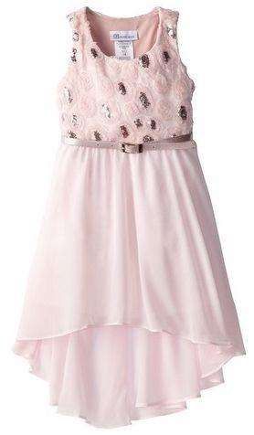 Bonnie Jean Little Girls Scalloped Mesh Bonaz To Chiffon Skirt