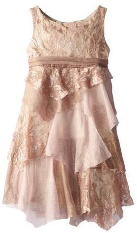 Kate Mack Little Girls Good As Gold Sleeveless Lace Dress
