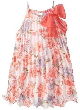 Pinky Pink Little Girls Floral-Print Chiffon Dress