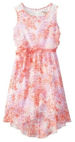 Speechless Little Girls High Low Printed Chiffon Dress