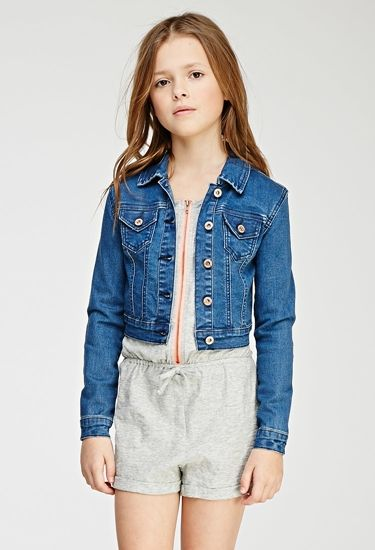 Girls Classic Stretch-Denim Jacket (Kids)