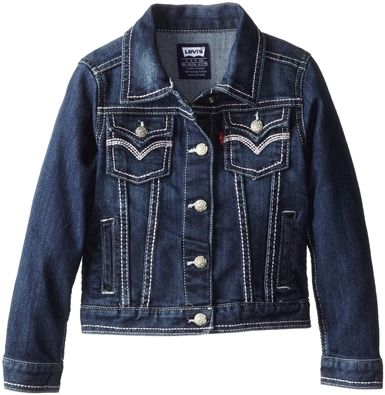 Levi's Big Girls' Tanya Thick-Stitch Denim Jacket