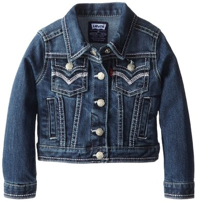 Levi's Little Girls' Tanya Thick-Stitch Denim Jacket
