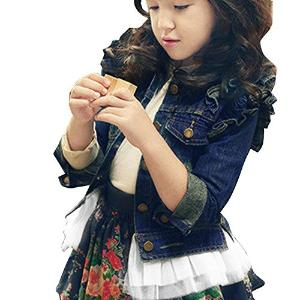 Little Hand Little Girls' Denim Cardigan Princess Dresses Coat Jacket Outerwear