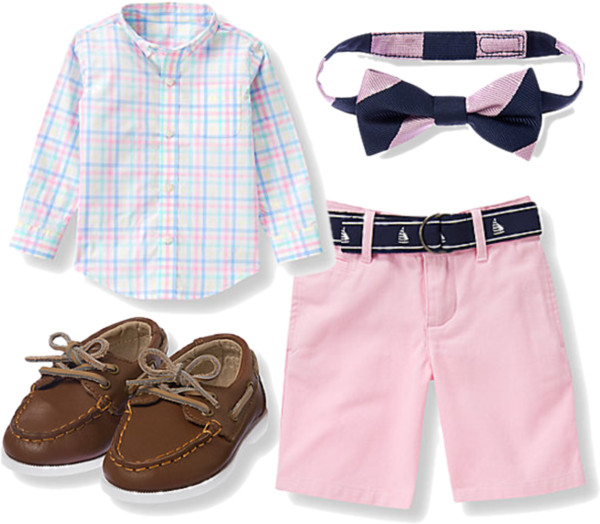 Gingham Shirt + Twill Shorts for Boys