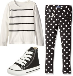 Black and White Monochrome Outfits for Little Girls