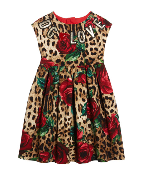 Leopard-Rose-Print-Interlock-Dress-DG-Love-Patches-for-kid-girls