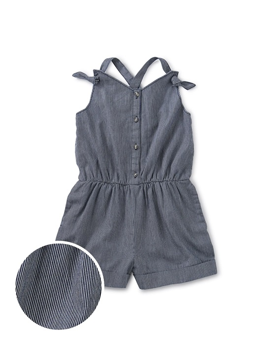 Pull-On Button Front Romper for girls