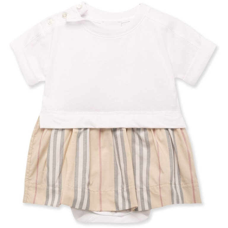 Stripe Dress Burberry for Baby Girls