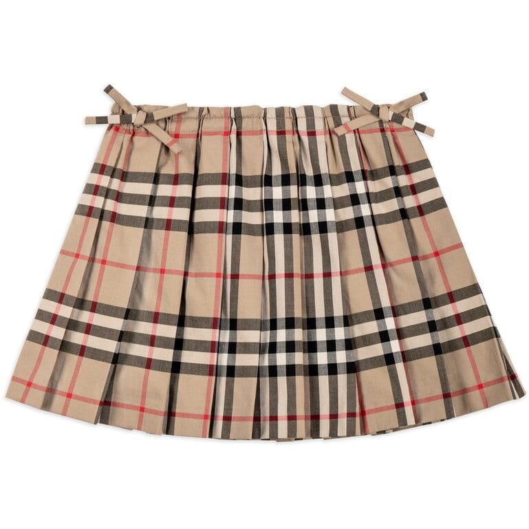 Burberry Mini Pearly Pleated Skirt for Baby Girls