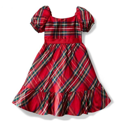 Bradbury Red Plaid Dress